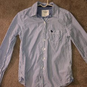 Small Abercrombie & fitch long sleeve polo